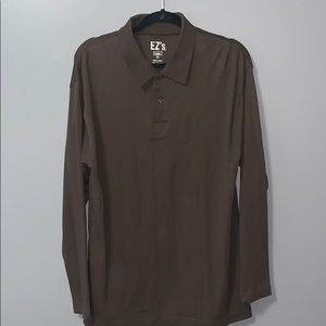 Haggar EZ's 2 button long sleeve shirt